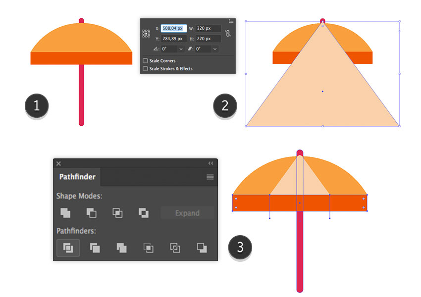 Adding segments to the parasol