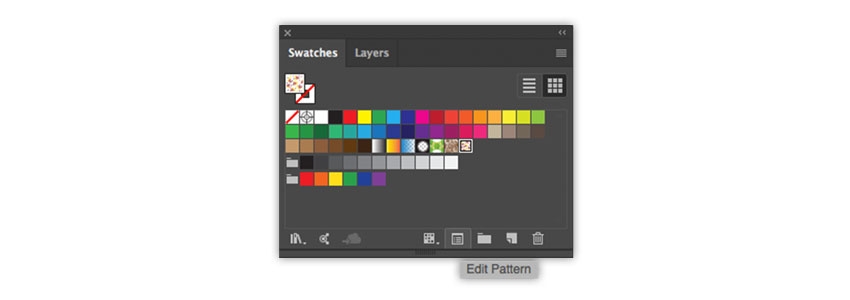 Edit Pattern icon on the Swatches panel