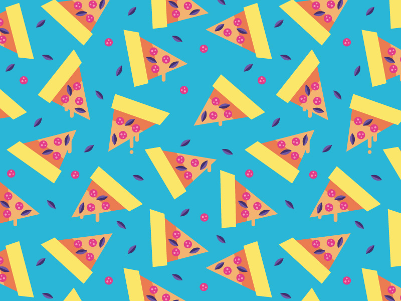 Colorful Pizza Pattern Adobe Illustrator Tutorial