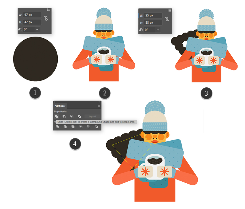 Character Making In Illustrator : How to create a cozy winter character in adobe illustrator