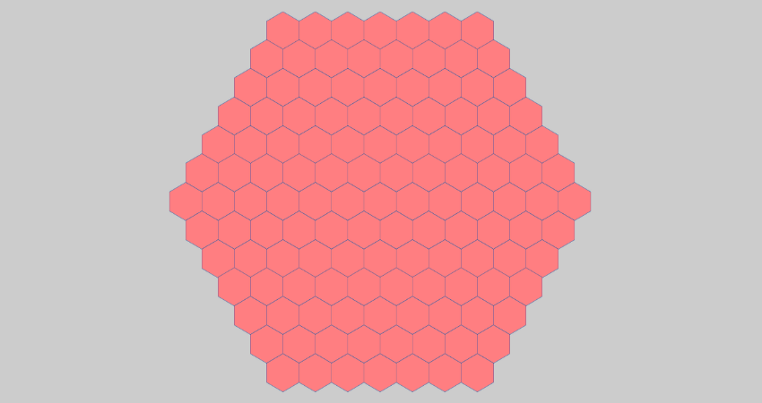 horizontal hexagonal minesweeper grid