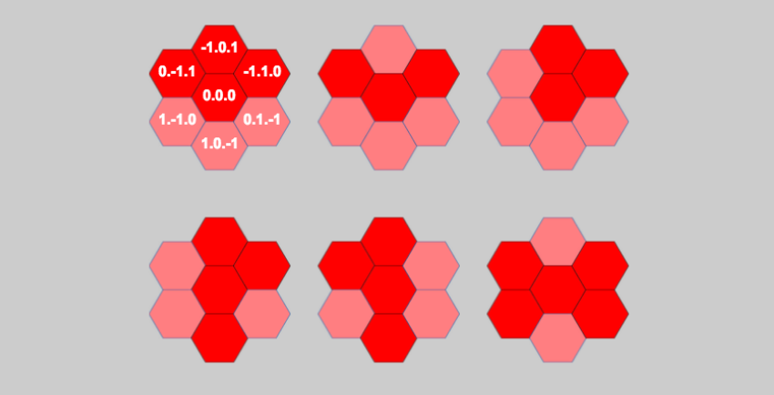 Introduction to Axial Coordinates for Hexagonal Tile-Based Games