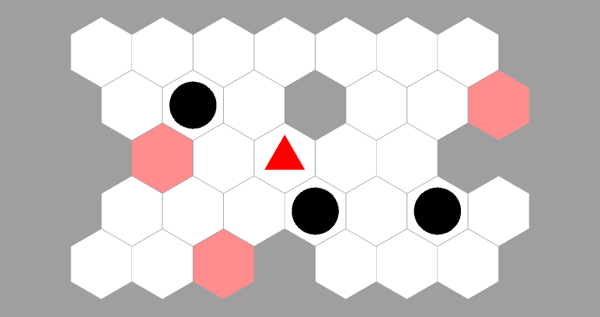 hexagonal sokoban level