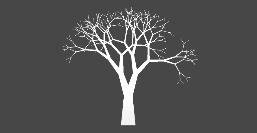 Asymmetrical fractal tree