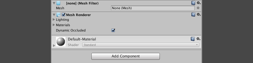 The necessary mesh components