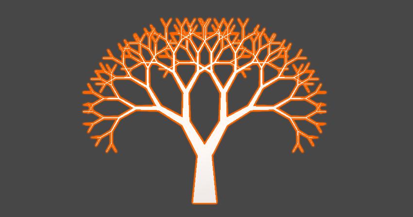Symmetrical fractal tree shape