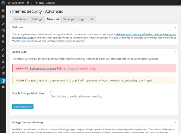 iThemes Security Advanced