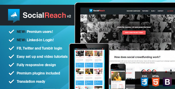Social Reach Theme ThemeForest