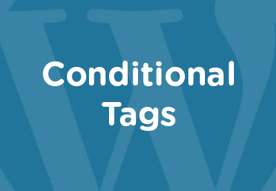 Conditional tags featured image