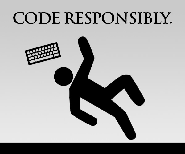 Code Responsibly sign