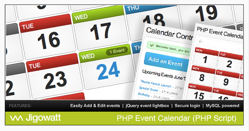 Best Php Calendar Booking  Events Scripts