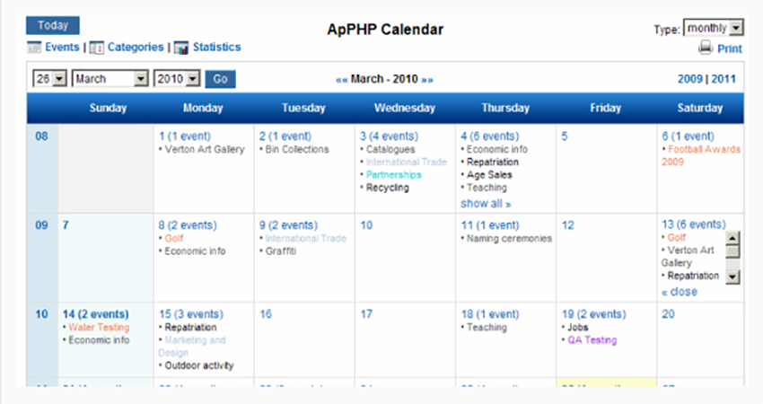 15 Best PHP Calendar, Booking & Events Scripts