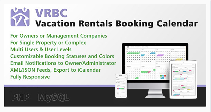 Vacation Rentals Booking Calendar