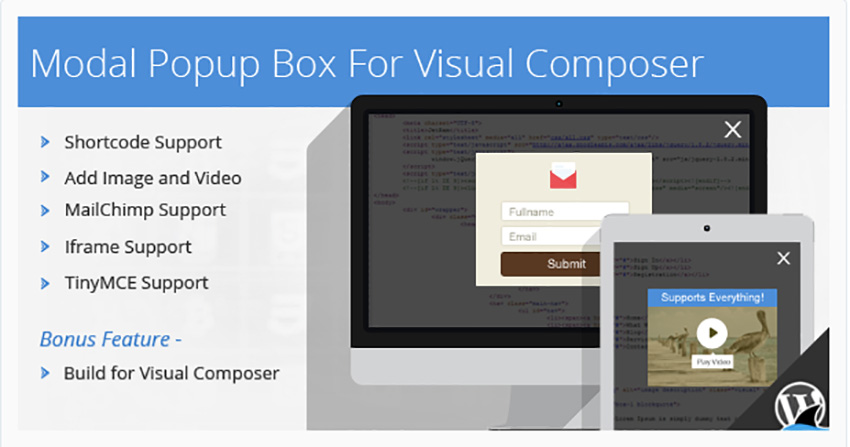 Modal Popup Box For Visual Composer