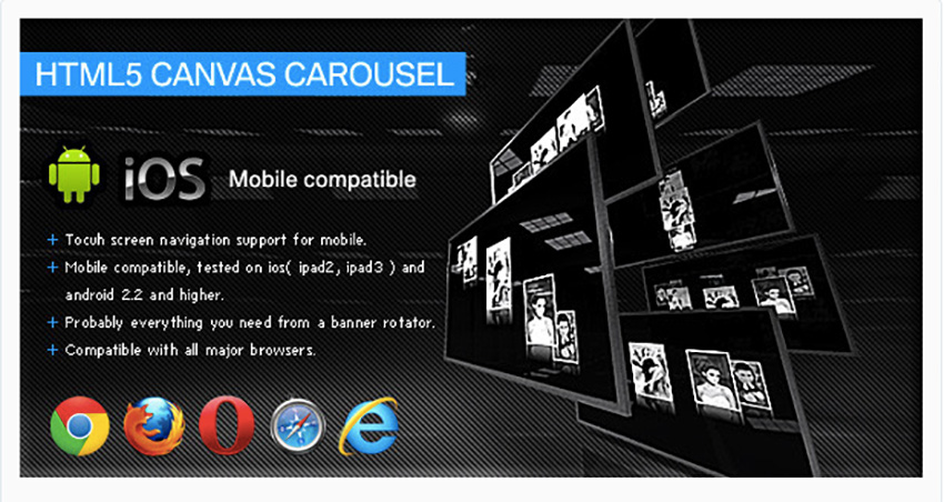HTML5 Canvas Carousel