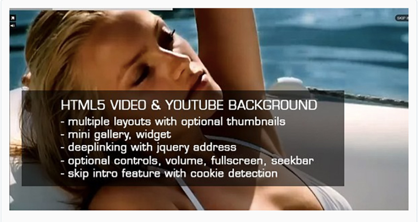 HTML5 Video and YouTube Background