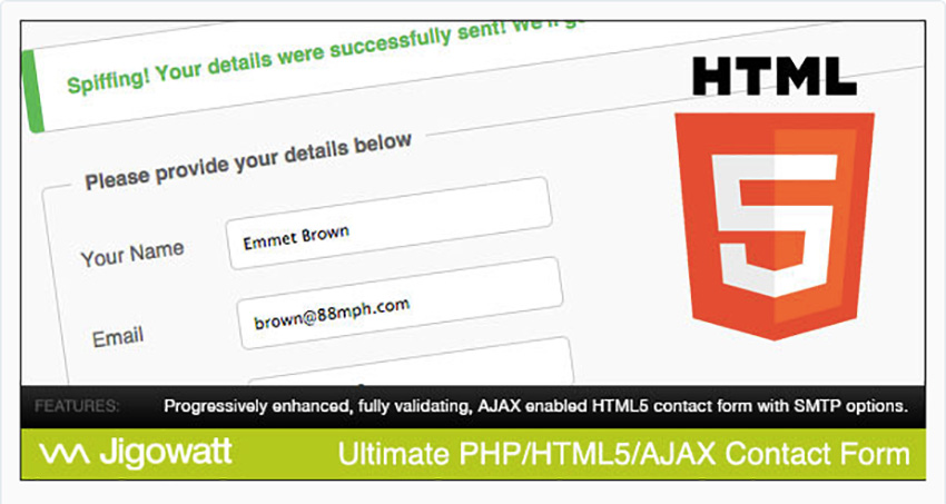 Ultimate PHP HTML5  AJAX Contact Form