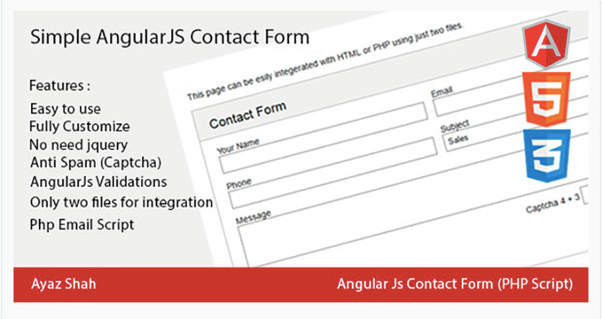 Simple AngularJS Contact Form
