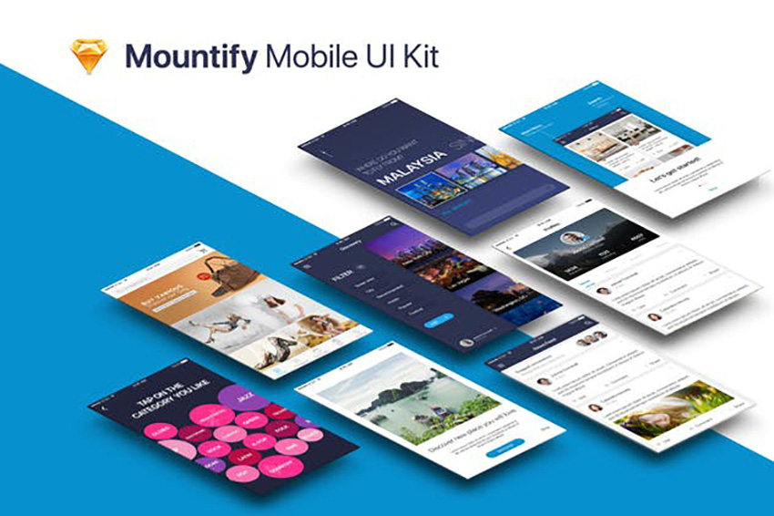 Mountify Mobile UI Kit