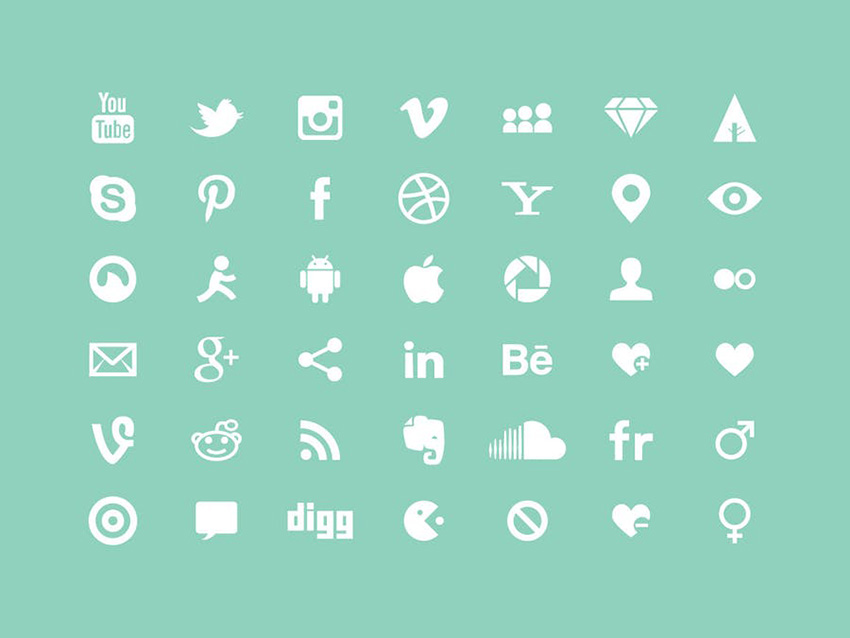 White Multipurpose Icons