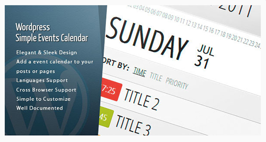WordPress Events Calendar