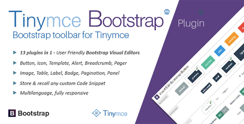 TinyMCE Bootstrap Plugin