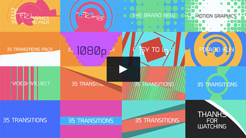 20 creative video transitions for your next video project for Motion graphics transitions