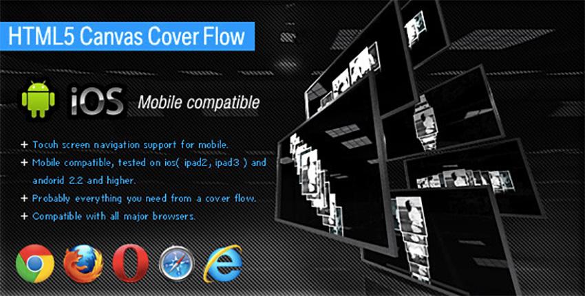 Flux de couverture HTML5 Canvas