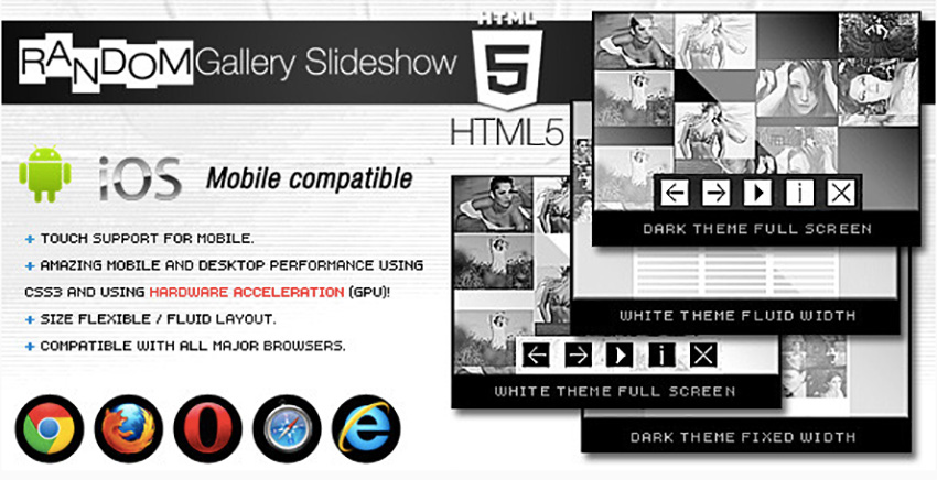 HTML5 Gallery Slideshow