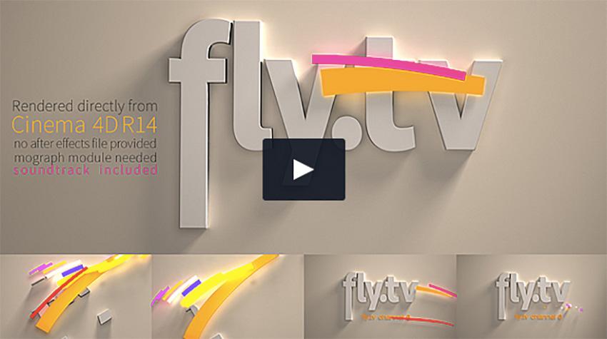 3D Broadcast Logo Animation