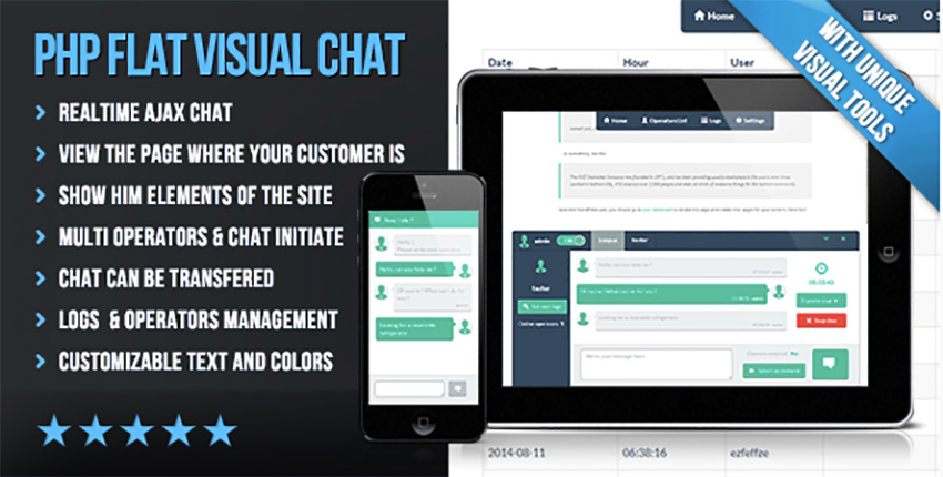 PHP Flat Visual Chat