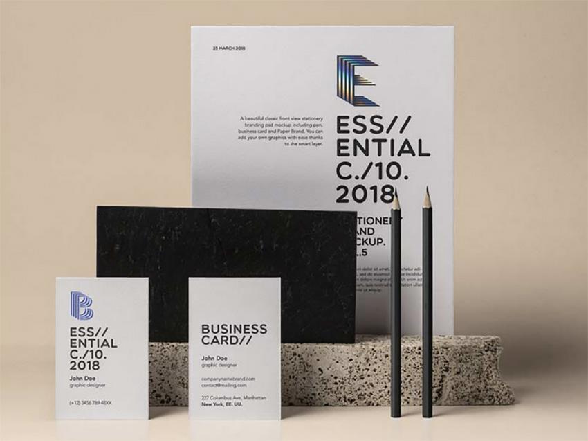 Essential Stationery Branding Mockup