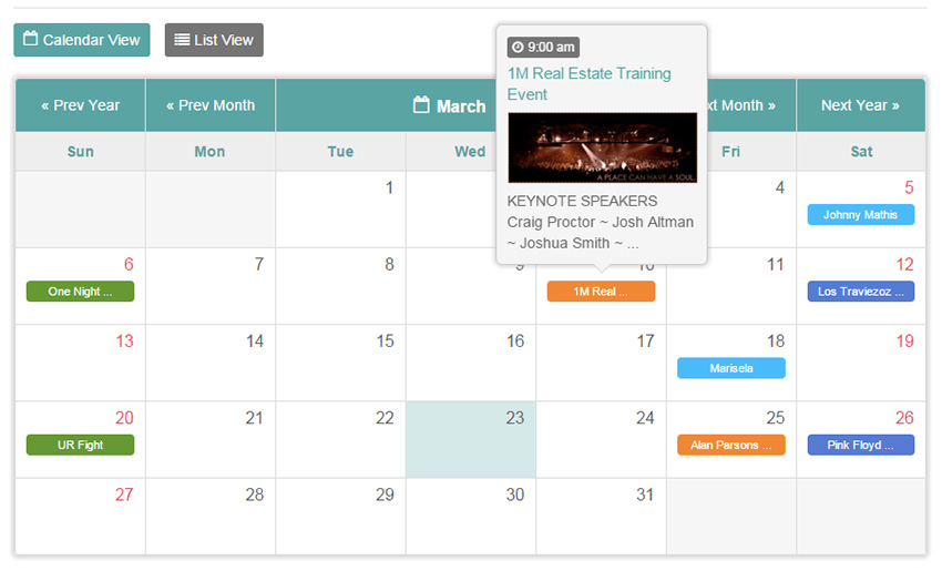 Calendar Booking System Php : Best php event calendar and booking scripts