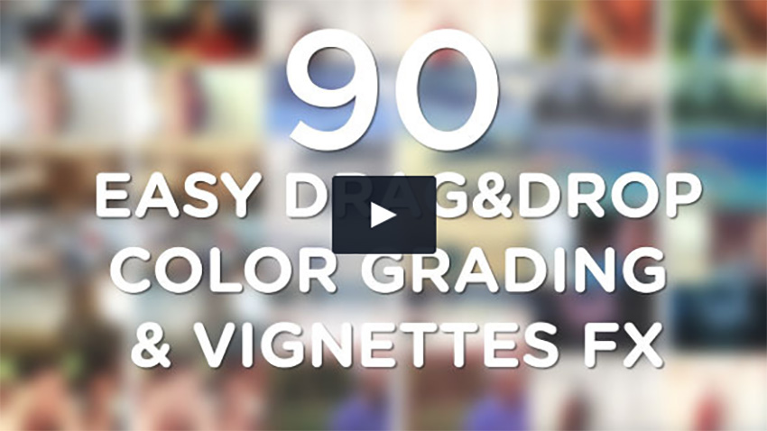 Easy Vignette  Color Correction Pack