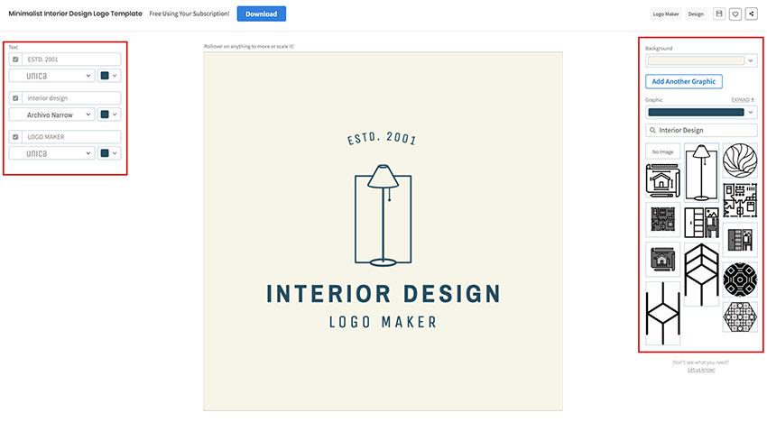 Minimalist Interior Design Logo Template