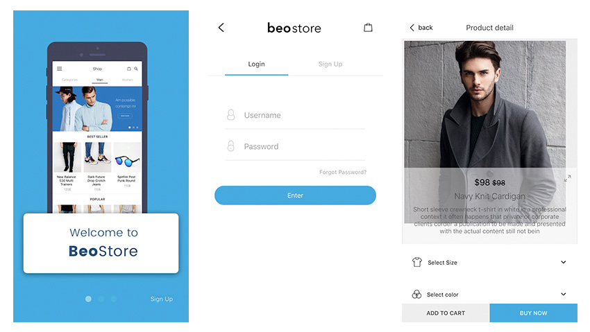 android ecommerce app design template