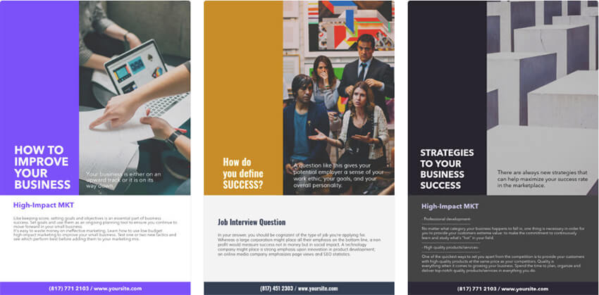 21 best business flyer templates using a flyer creator without