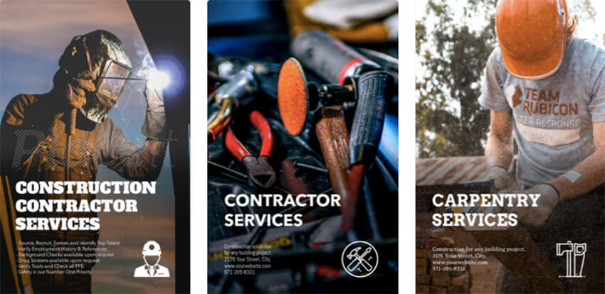 Flyer Template for Construction Flyers