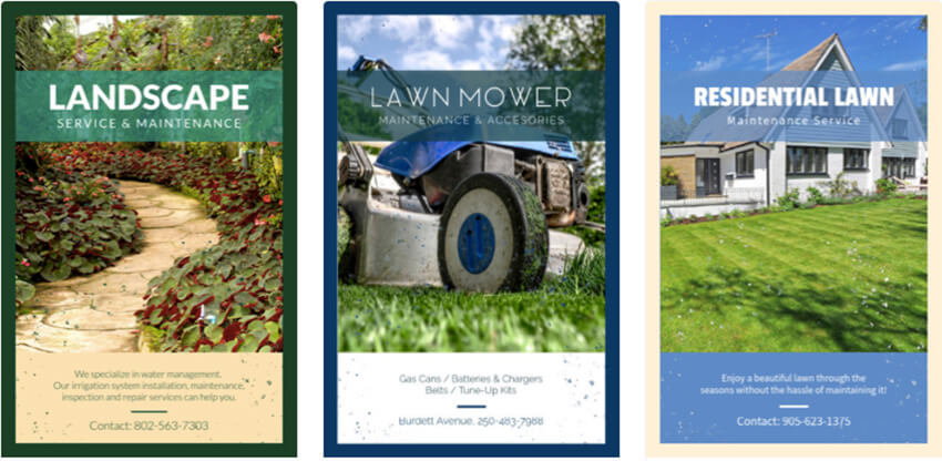 Flyer Maker for Landscaping Business with Images