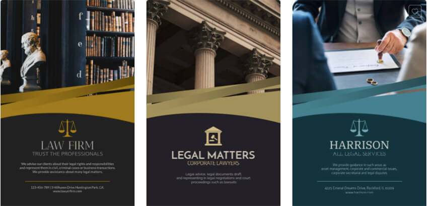 Professional Law Firm Flyer Design Template