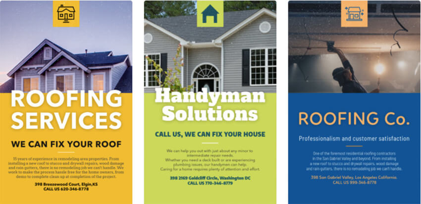 Roofing Services Flyer Template