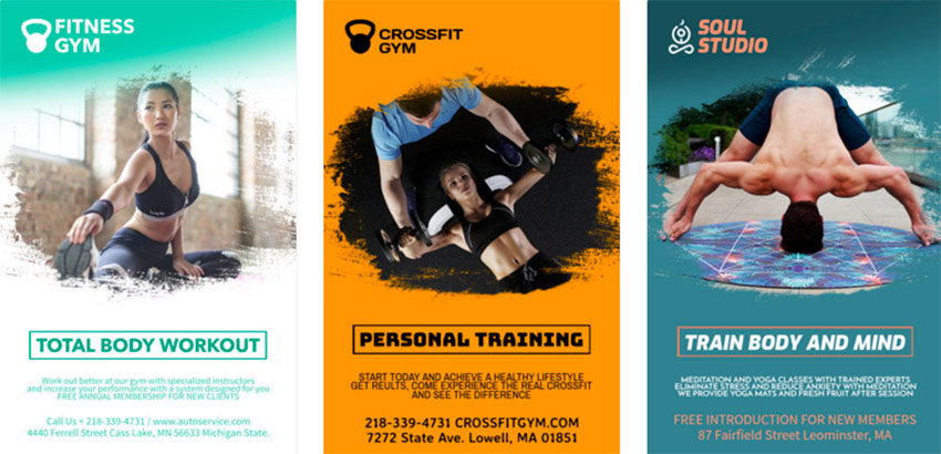 Gym Flyer Maker for Fitness Classes