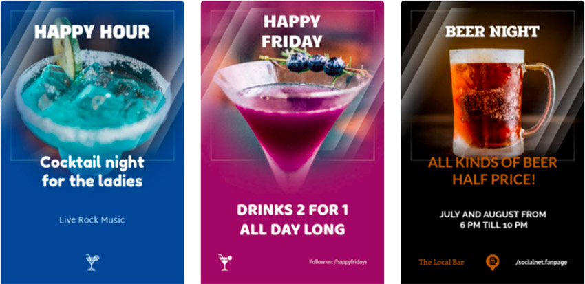 Online Flyer Maker for Drink Promos