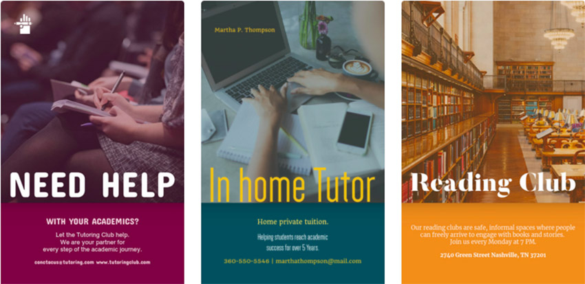 Design Tutoring Flyers