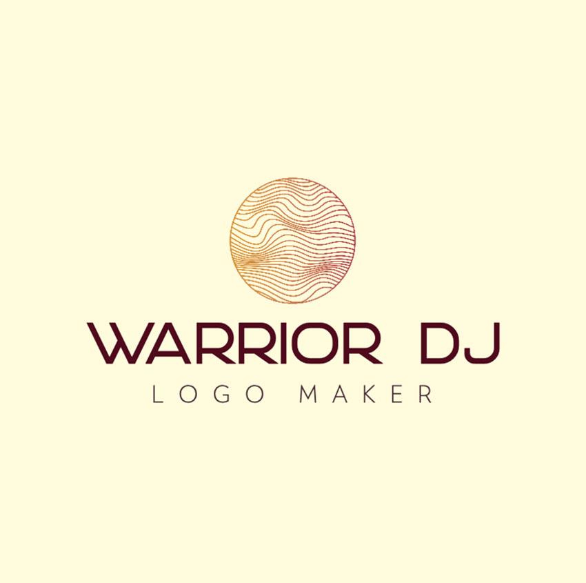 DJ Music Logo Design With Circle Graphic