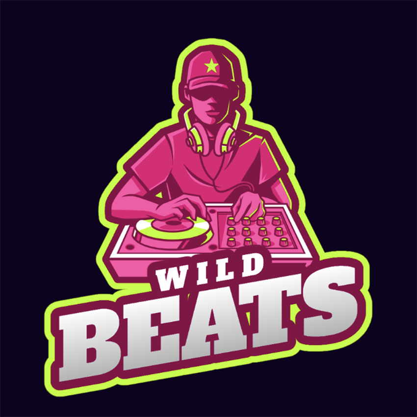 DJ Music Logo Ideas EDM logo