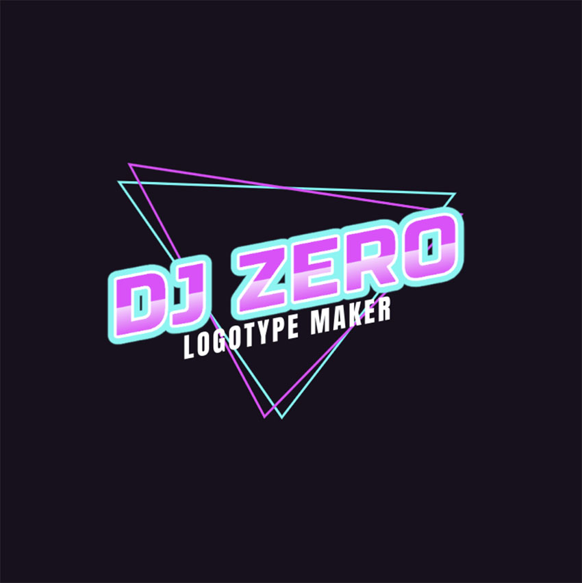Modern DJ EDM Logo