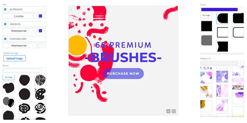 Ad Maker for Art Supplies Shop