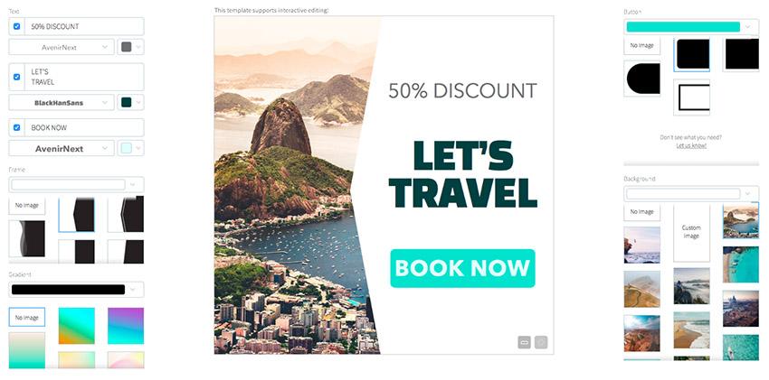 Online Banner Ad Maker for Travel Agency