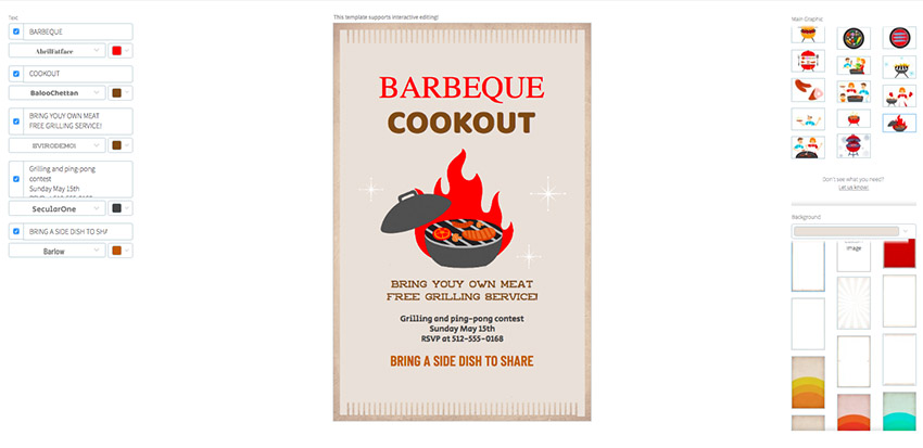 Online Flyer Maker for a Cookout